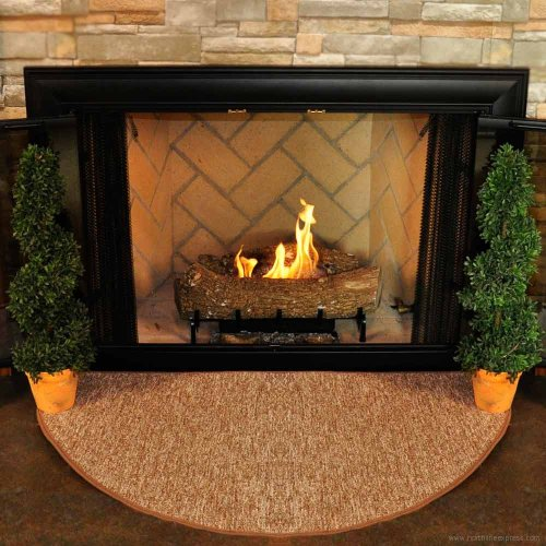 Goods Of The Woods 10809 Firewood Half Round Rug - Harvest (Fireplace Carpet compare prices)