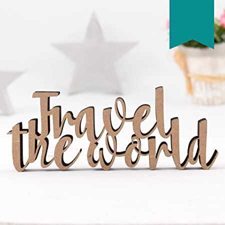 Small Travel The World - 3D Word Decorative Letters - 32