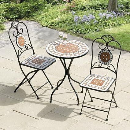 Amazon Com Diamond Mosaic 3 Piece Bistro Outdoor Lawn Garden Dining