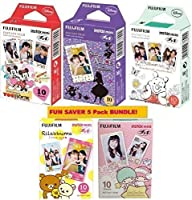 Fujifilm Instax mini Instant Film Bundle of 5 boxes,including disney 3 boxes of Mickey& Alice & Pooh