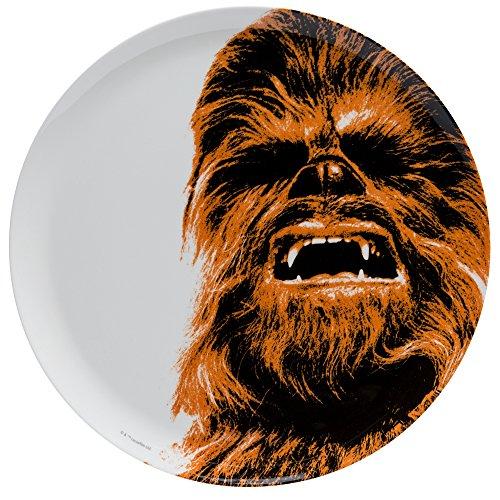 Zak Designs Star Wars 10in Durable Melamine Plate, Star Wars Ep4 - Plate Wars Star