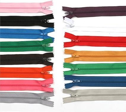 "5/"" Zipper Black Closed end Nylon coil YKK ykk25 Lot of 50"