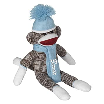 Amazon.com: Personalized Sock Monkey Embroidered Name Christmas ...