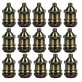 AAF Vintage Style Light Socket Antique Bronze Lamp Holder E26 / E27, Pack Of 15