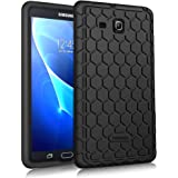 Fintie Samsung Galaxy Tab A 7.0 Case - [Honey Comb Series] Light Weight [Anti Slip] Shock Proof Silicone Cover [Kids Friendly] for Galaxy Tab A 7-inch Tablet 2016 Release (SM-T280 / SM-T285), Black