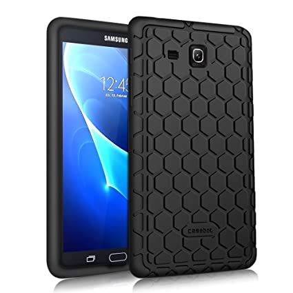innovative design f38f4 aeb74 Fintie Silicone Case for Samsung Galaxy Tab A 7.0, [Honey Comb Series]  Light Weight [Anti Slip] Shock Proof Cover [Kids Friendly] for Galaxy Tab A  ...