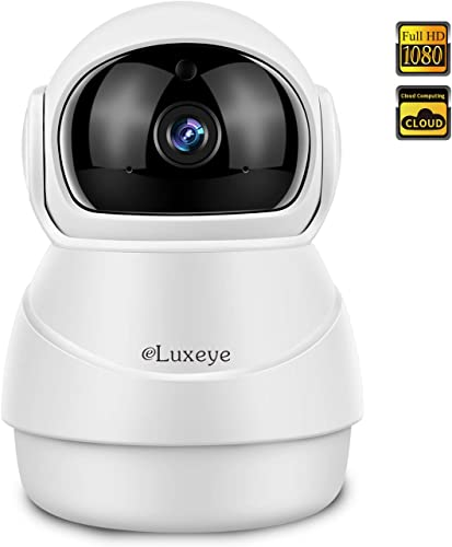 Wireless Surveillance Camera IP Dome Camera Home Security 1080P Baby Monitor Nanny Pet Cam with Night Vision Motion Tracking 2-Way Audio