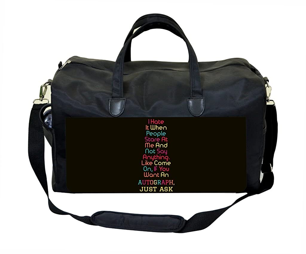 Autograph Quote in Color PU Leather and Suede Therapist Bag