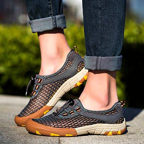 Miyoopark , Chaussures de ville à lacets pour homme - gris - gris,