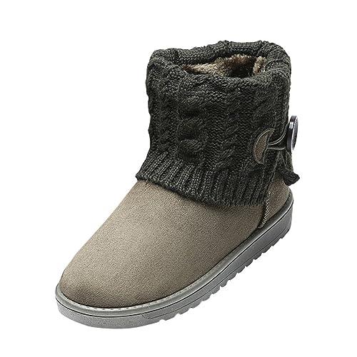 Summer Mae Donna Stivali da Neve Boots Lavoro A Maglia  Amazon.it ... 39989625b91