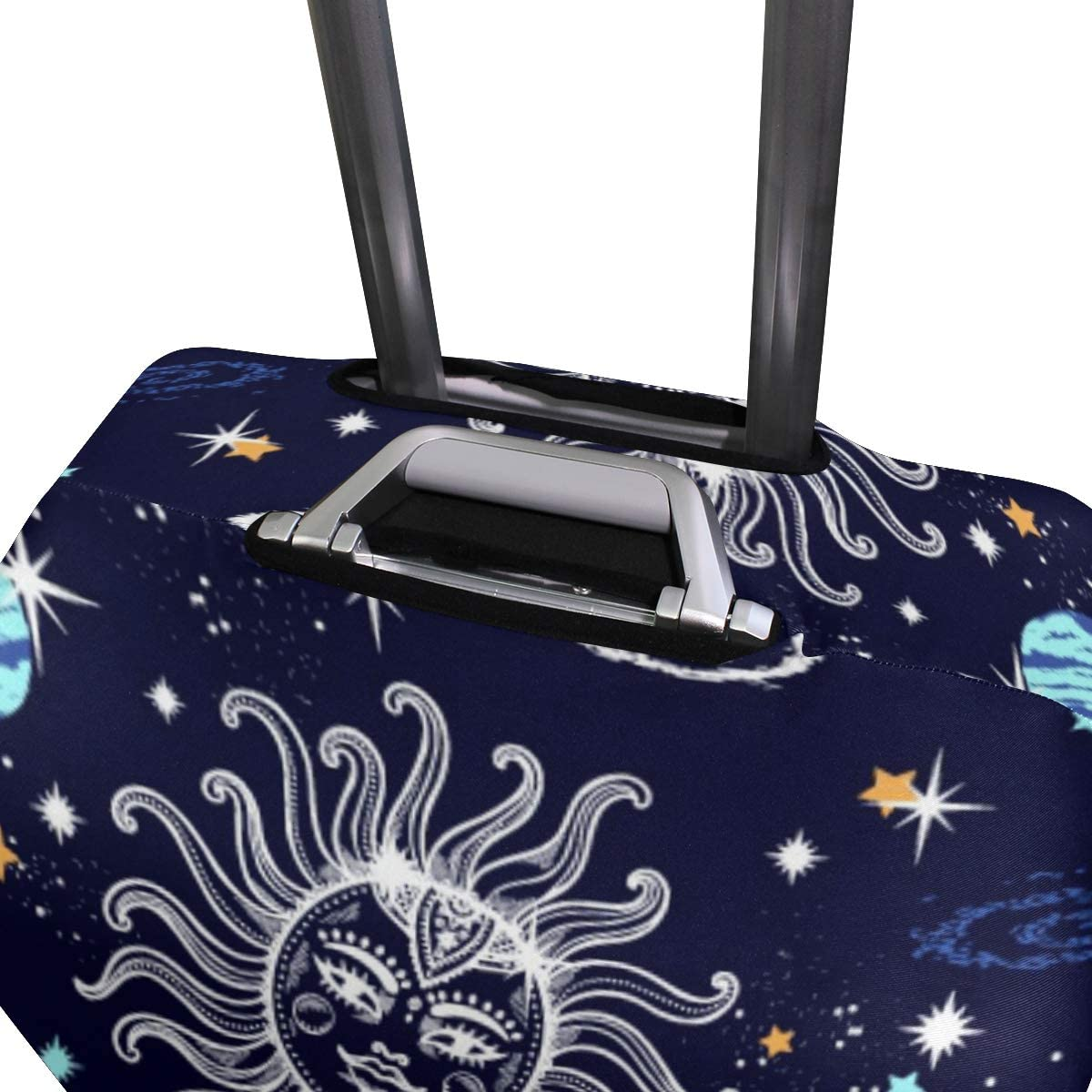 18//20//24//28//32 Inch Spandex Travel Luggage Cover Space Galaxy Constellation Seamless Pattern Print Fashion DIY Creative Design Anti-Scratch Stretchy Travel Suitcase Protector Baggage Covers
