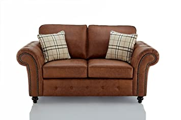 Fine Furniturestop Co Uk Oakland Faux Leather 2 Seater Sofa Brown Download Free Architecture Designs Scobabritishbridgeorg