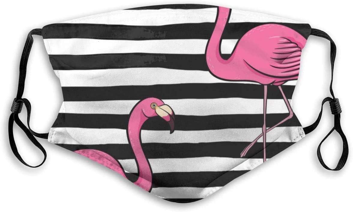 Mundschutz mit Filter Pink Flamingo Bedruckter Staubgesichtsschutz f/ür Staub Mundschutz Anti-Staubschutz f/ür Kinder Frauen und M/änner