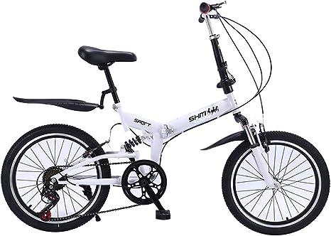 ANJING Bicicleta de Plegable de 20 Pulgadas con Doble Suspensión ...