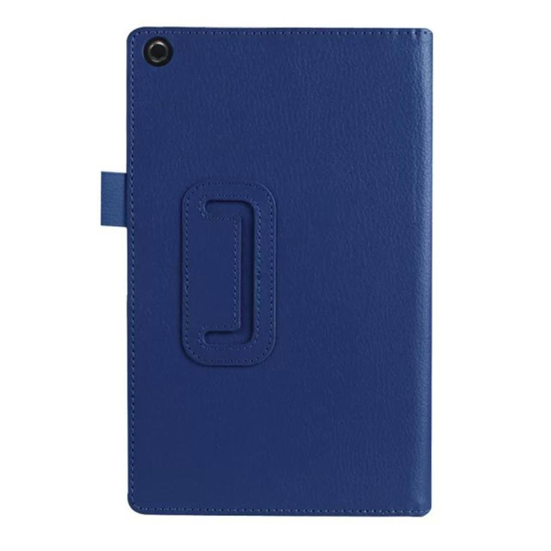 Iusun Ultra Slim Leather Tablet Cover Case Stand For Amazon Fire HD 8 Tablet (Dark Blue) LZC51015586DB_ZXJ