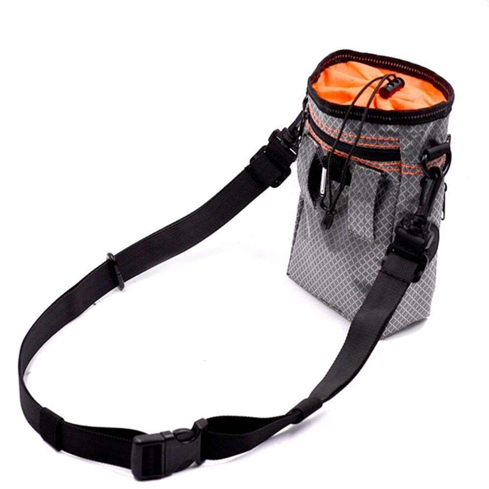 Other Dog Training Aids - Dog Training Treat Storage Pouch Travel Reflective Belt Single Shoulder With Collapsible Bowls - Elastic Bag Treat Pet Bed Clicker Dog Training Carrier Dog Snack Treat by BOZLIZ