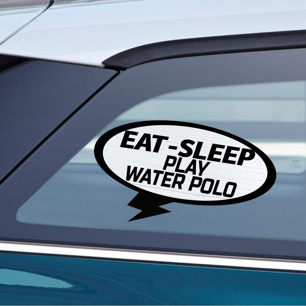 Amazon com eat sleep play water polo car laptop wall sticker decal 3 5by6small or 5by9large automotive