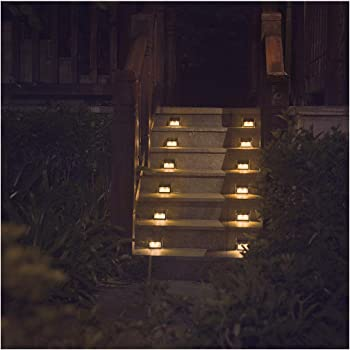 Charmant [Warm Light] Solar Lights For Steps Decks Pathway Yard Stairs Fences, LED  Lamp