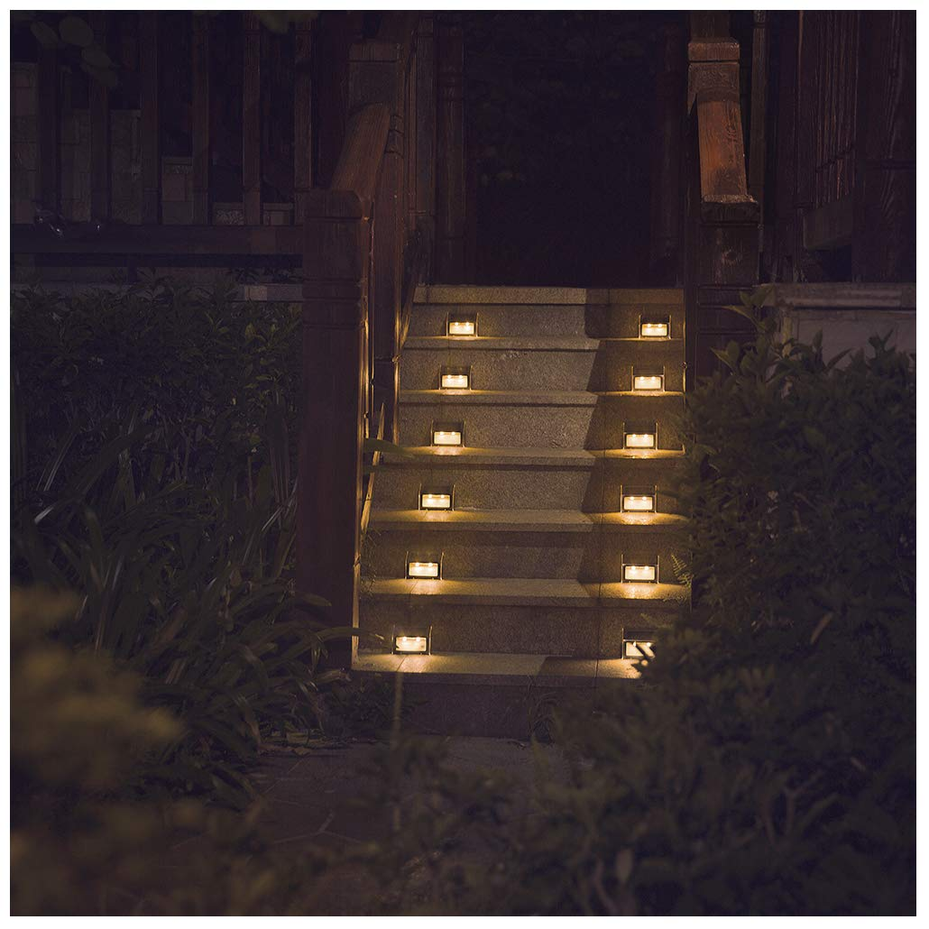Solar Powered Fence Lights Wall Door Step Led Light Outdoor Garden Lighting ZOG