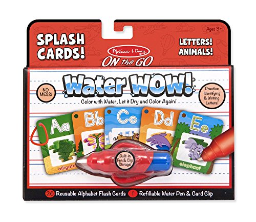 Melissa & Doug On the Go Water Wow! Reusable Water-Reveal Activity Cards - Alphabet and Animals -