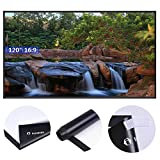 Instahibit 120'' 16:9 Portable Front Projection Screen Matte White HD Movies Home Theatre Outdoor Yard Conference