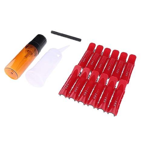 Homyl 24 Unidades Rodillo Rizador de Pelo Varilla de Hair Root Curling, Herramientas de Peluquería