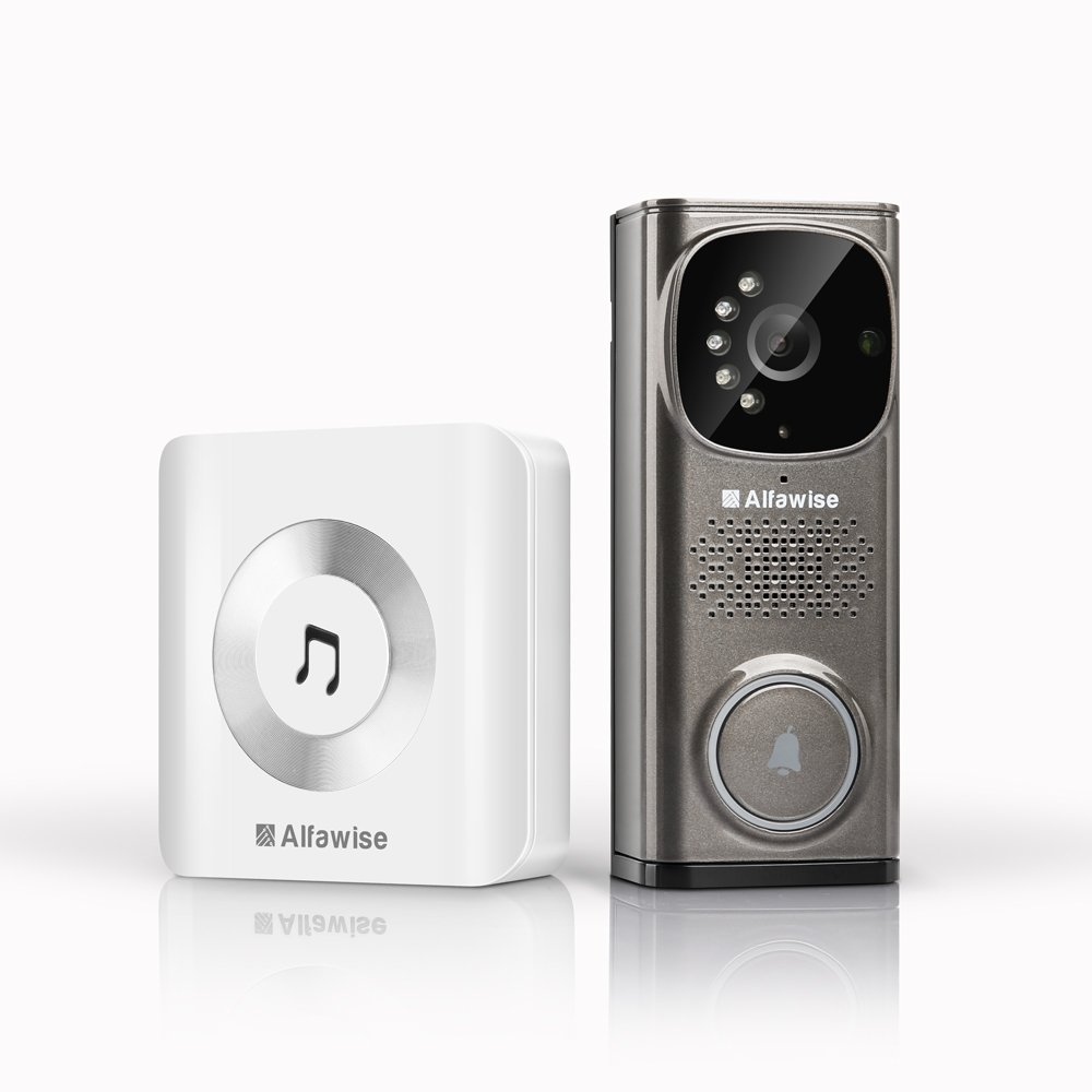 Wlan Türklingel Video Alfawise Funkklingel mit NVR Funktion WiFi Smart Video Türklingel