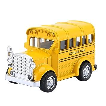 1:36 School Bus Mini Alloy Diecast Pull Back Modelo de Coche ...