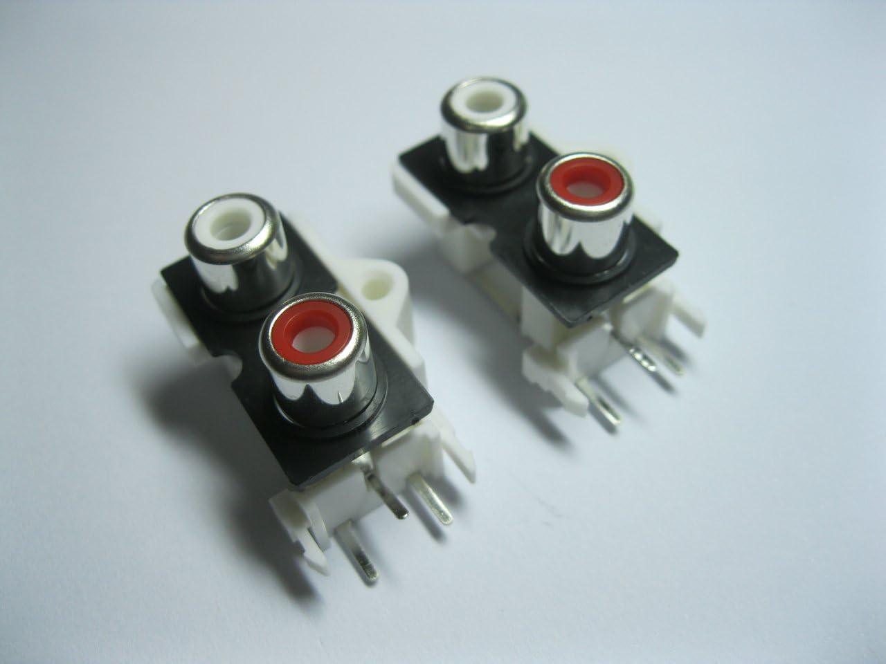 10 pcs AV Pin Jack 2 Color RCA Female Audio Video AV Socket Connector AV2-9 Skywalking