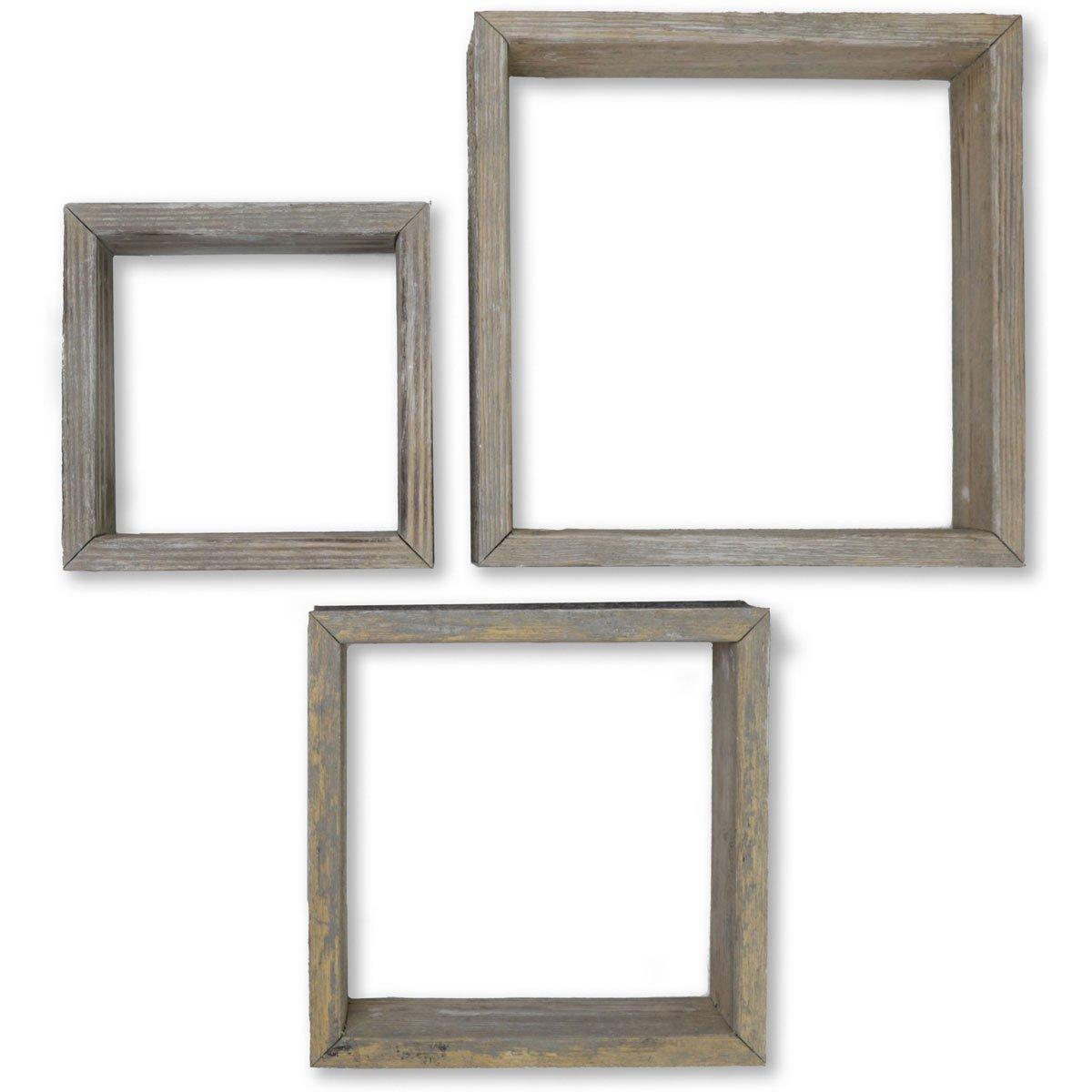 Ekena Millwork DECR15SBSQOBGY Shadow Box Shelves, Reclaimed Grey