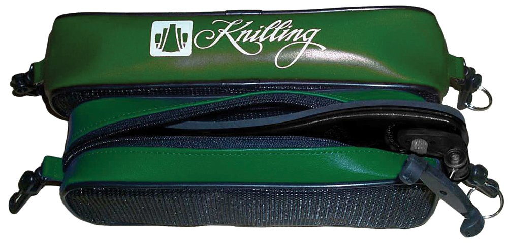 Knilling Deluxe Shoulder Rest Pouch for violin/viola; forest green