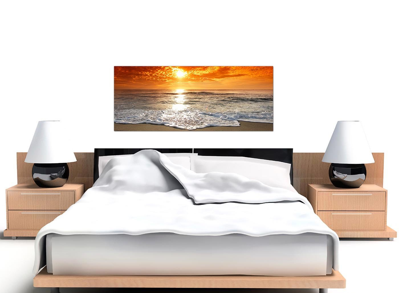 Cheap Canvas Pictures Of A Tropical Beach Sunset For Your Bedroom    Panoramic Seaside Wall Art   1152   Wallfillers®: Amazon.co.uk: Kitchen U0026  Home