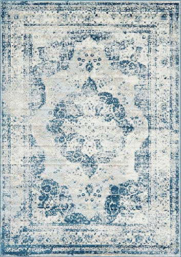 Unique Loom Sofia Collection Traditional Vintage Blue Area Rug (7' x -