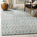 Cheap Safavieh Abstract Collection ABT206A Contemporary Handmade Ivory and Blue Premium Wool Area Rug (9′ x 12′)