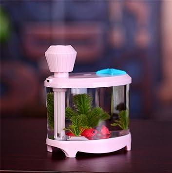 USB power suministro 145 * 125 * 86 cm acuario pecera luces de decoración para el hogar peces tanque humidificador luces atomizador luminoso purificación ...