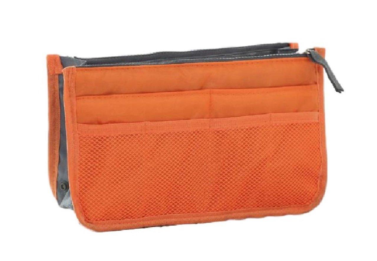Gacchi56 Bag in bag for Handbag, Insert Organizer Multi-Pockets Purse Handles (orange)