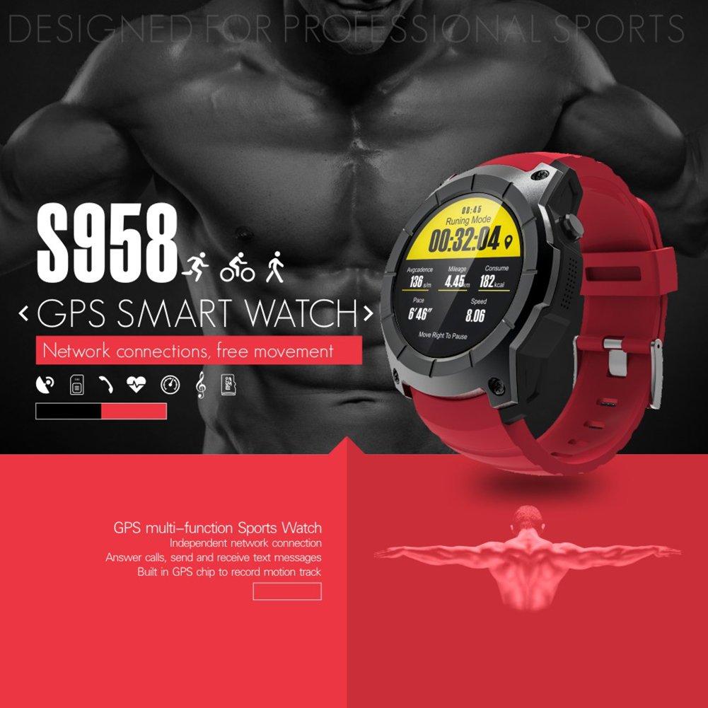 Smartwatch S958 resistente al agua, con monitorización de ritmo ...