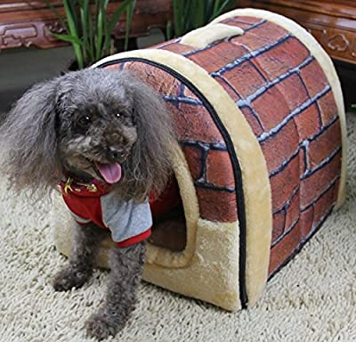 T2C Home Arc Shape Retro Design Pet House Puppy Bed Cat Sofa,Premium Edition with Multifunction and Washable.
