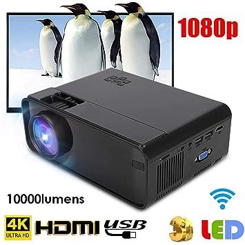 Lecxin Proyector LED, proyector portátil 4K WiFi Proyector LED ...