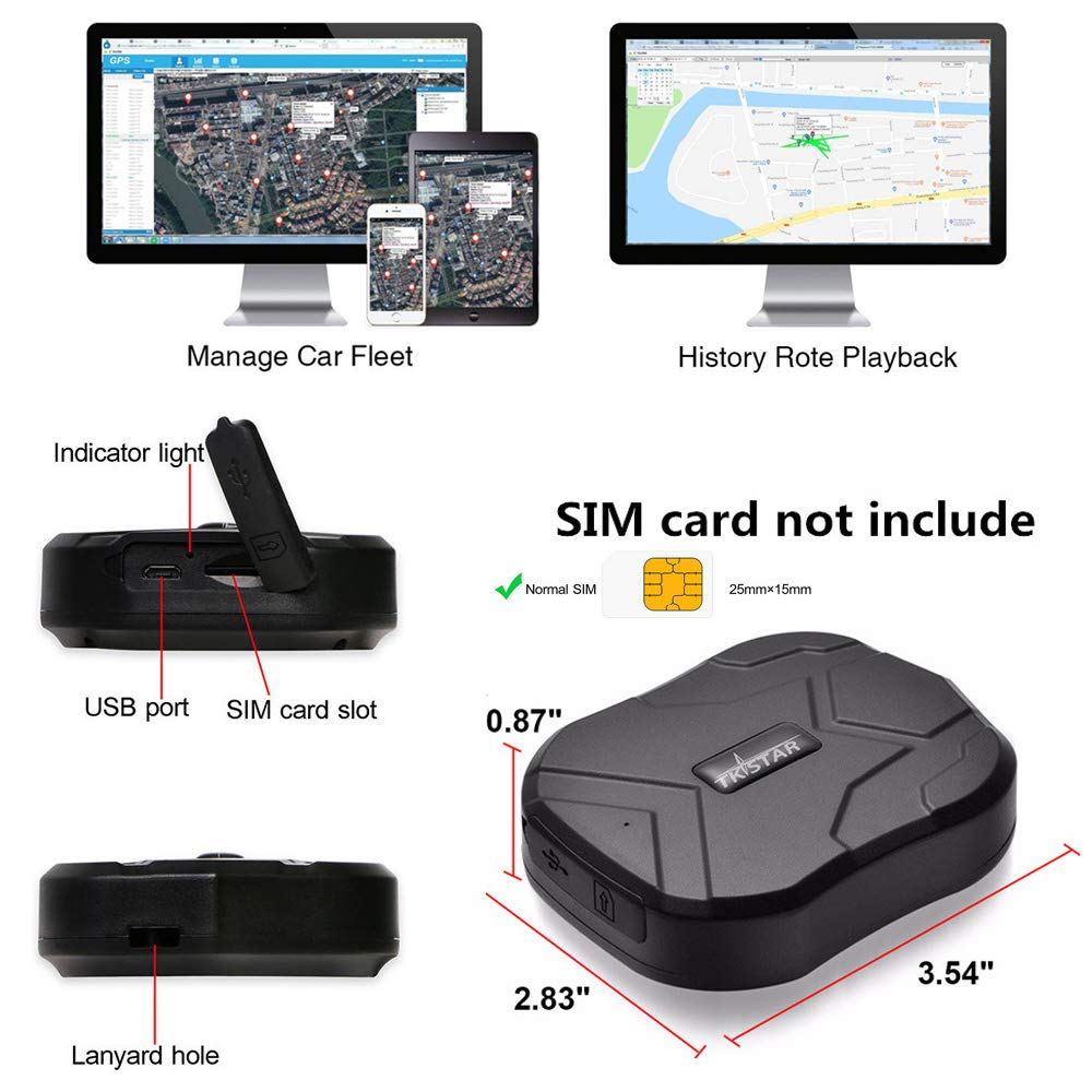 Amazon.com: TKSTAR Hidden Vehicles GPS Tracker, Waterproof ...