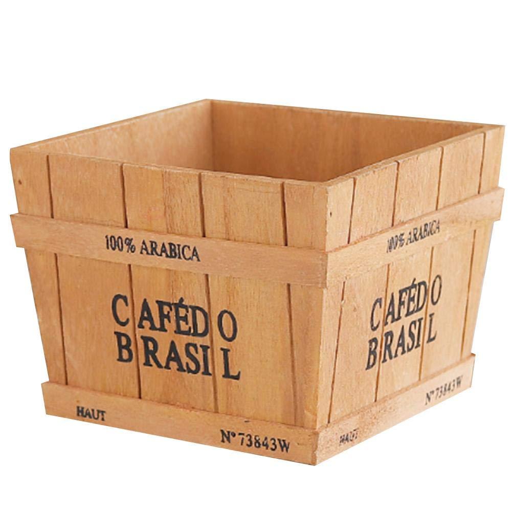 feiledi Trade - Macetero de Madera para jardín, diseño Vintage, Multifuncional, para Almacenamiento, Plantas suculentas, 15,2 x 16 x 13,2 cm: Amazon.es: ...