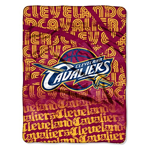 Officially Licensed NBA Cleveland Cavaliers Redux Micro Raschel Throw Blanket, 46