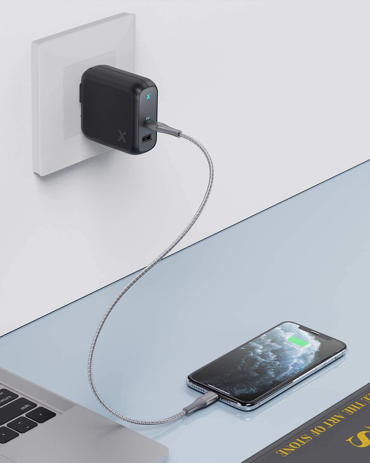 USB-C Wall Charger with 18W PD /& QC 3.0 for iPad Pixel 3//3XL Black Galaxy S9//Note 9 iPhone 11//Pro//XS//Max//XR//X USB C Charger Xcentz 36W Power Delivery Fast Charger USB-C Power Adapter and More