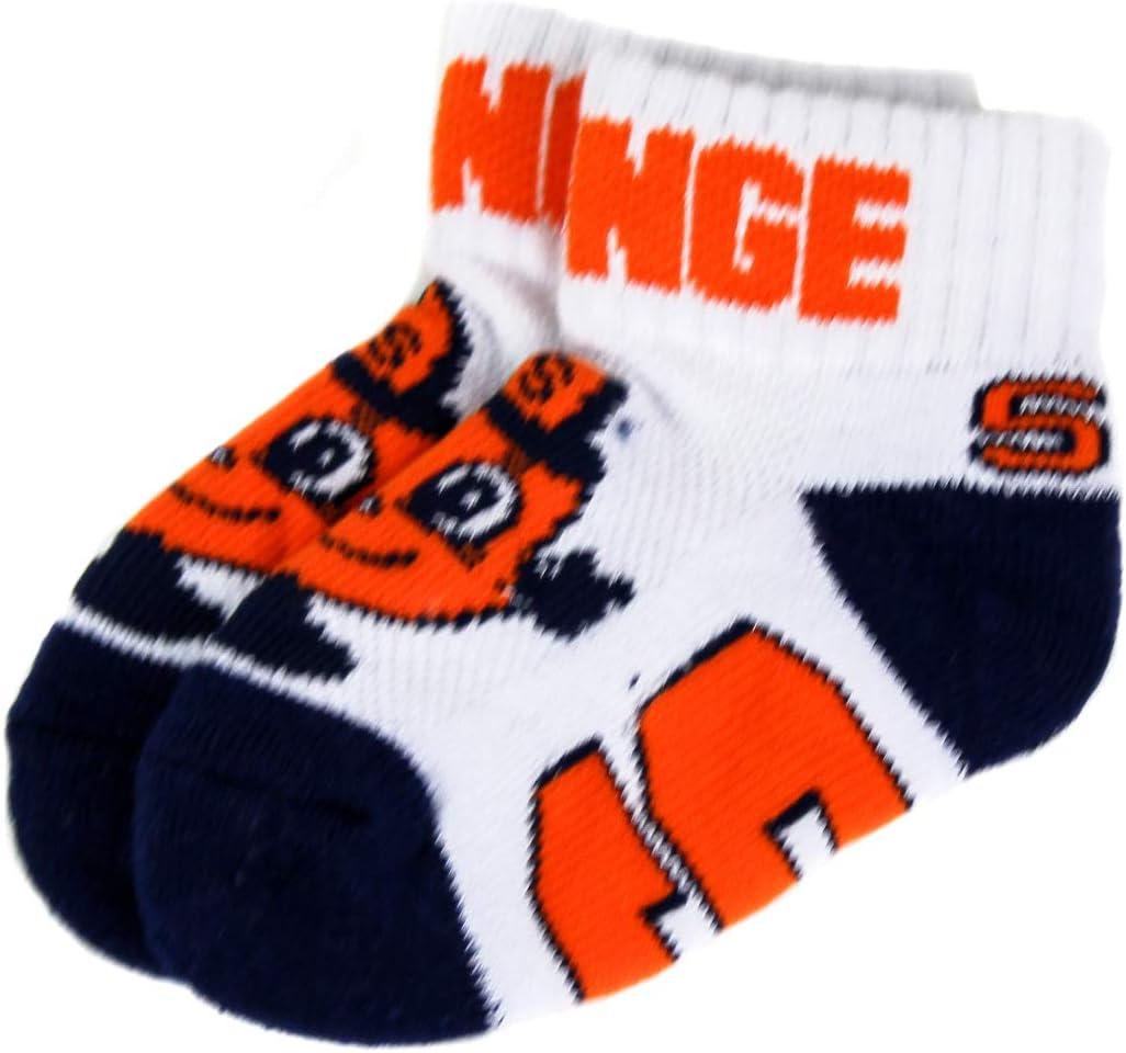 Donegal Bay NCAA Syracuse Orange Unisex Syracuse Baby Qtr Socksyracuse Baby Qtr Sock, Blue, BAX 12-24 Months: Clothing