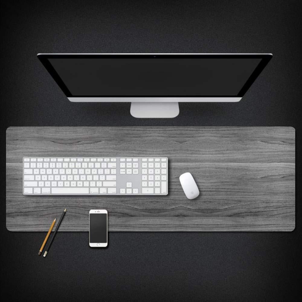 Tzsysb Patrón gris Super impermeable mouse mouse impermeable pad juego de costura de dibujos animados mouse pad Teclado de computadora teclado alfombrilla antideslizante suministros de oficina estera de tabla,80cm×40cm×0.3cm 0e8d27