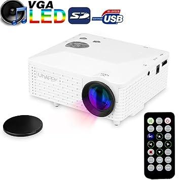 Amazon.com: Uhappy Mini Portable High Definition Projector Home Theatre Cinema 320x240 AV/VGA/USB/SD/HDMI,Low Noise and Dust Free Design.