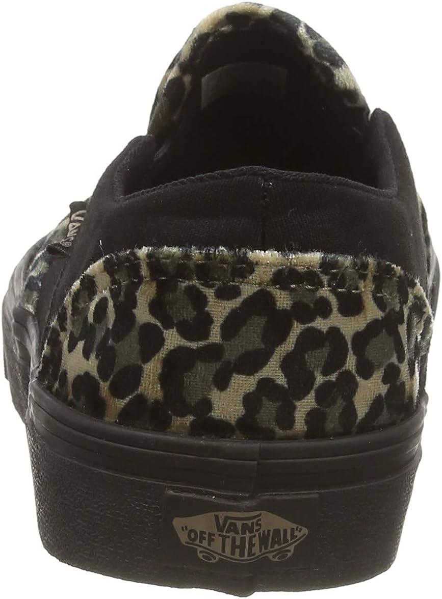 Vans Asher, Baskets Femme Multicolore Cozy Animal Portabella Black