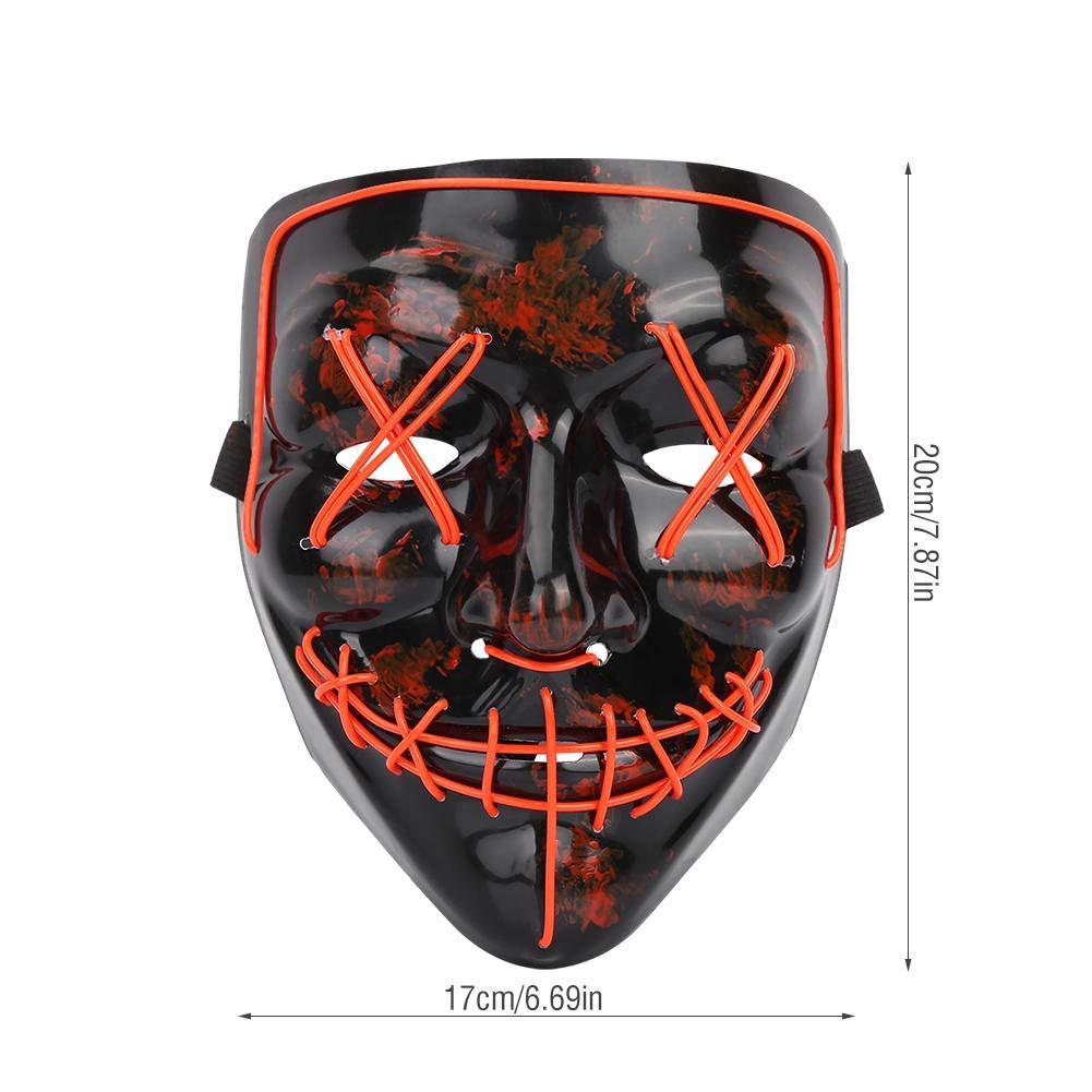 Rouge VGEBY1 Halloween de Masque LED Allument Le Masque de Forme Lumineuse Effrayant Adulte de Masque de Lueur pour Les Accessoires de Costume de Spectacle de F/ête