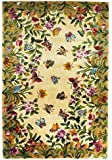 "KAS Oriental Rugs Emerald Collection Butterfly Garden Area Rug, 2'6"" x 4'6"", Antique Beige"