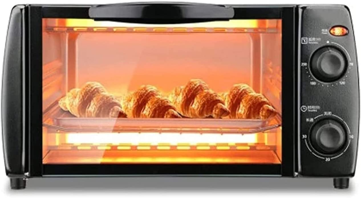 SFLRW Compact Toaster Oven with Heating, Crumb Tray and 750 Watts of Cooking Power – Countertop Toaster Oven